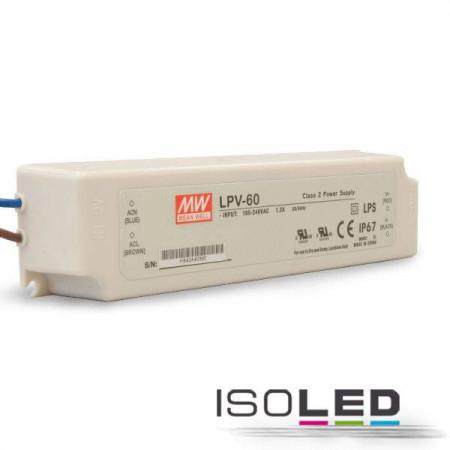 Trafo MW LPV 12V/DC, 0-60W, IP67