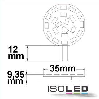 G4 LED 21SMD, 3W, neutralweiß, Pin seitlich