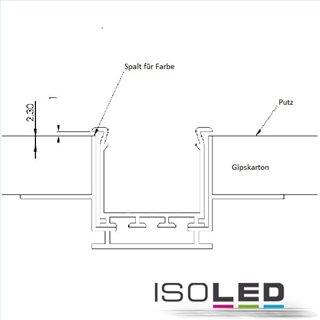 Installationskanal für Einbauprofile WING, L: 2000mm für 12,5mm Rigips-Platten