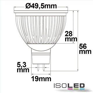 MR16 LED Strahler 6W Glas diffuse, 120°, warmweiß