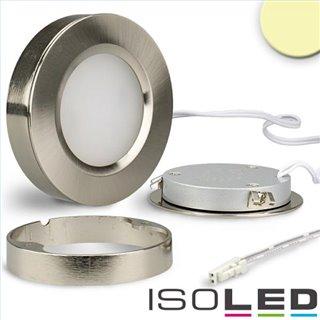LED Slim Ein- und Unterbauleuchte MiniAMP, silber, 3W, 12V DC, IP52, warmweiß, dimmbar