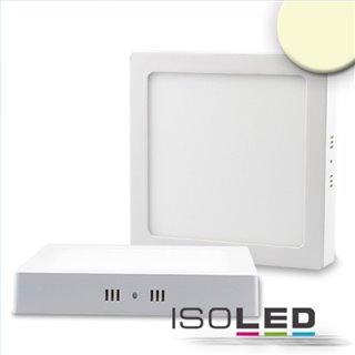 LED Deckenleuchte weiß, 18W, quadratisch, 220x220mm, warmweiß