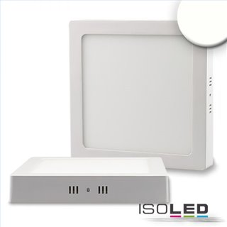 LED Deckenleuchte weiß, 18W, quadratisch, 220x220mm, neutralweiß