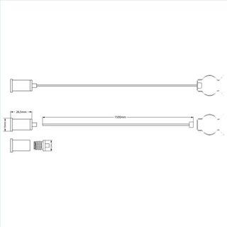 Seilabhängung (2 Stk) für T8 Röhren mit Deckenverschraubung inkl. Stahlseile 1,5m und Clips