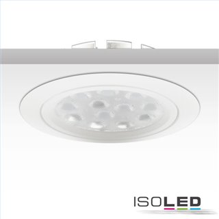 LED Einbaustrahler, weiß, 15W, 72°, rund, warmweiß, dimmbar