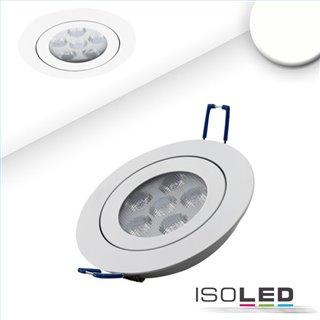 LED Einbaustrahler, weiß, 15W, 72°, rund, neutralweiß, dimmbar