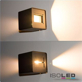 LED Wandleuchte Flex Up&Down 2x5W CREE, IP54, weiß, warmweiß