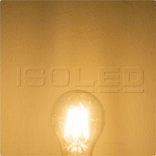 E27 LED Birne, 5W, klar, warmweiß, dimmbar