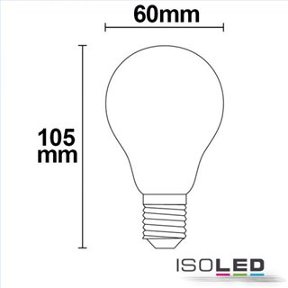 E27 LED Birne, 5W, klar, warmweiß, dimmbar