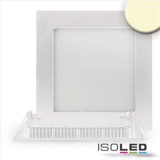 LED Downlight, 9W, ultra flach, eckig, weiß, warmweiß, dimmbar