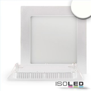 LED Downlight, 15W, eckig, ultra flach, weiß, neutralweiß, dimmbar