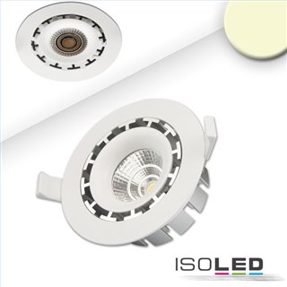 LED Einbaustrahler COB, weiß, 15W, 45°, rund, warmweiß, dimmbar