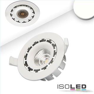 LED Einbaustrahler COB, weiß, 15W, 45°, rund, neutralweiß, dimmbar