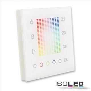 Sys-One RGB+W 4 Zonen Einbau-Touch-Fernbedienung, 230V AC