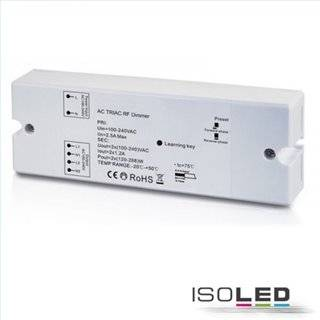 Sys-One Funk Dimmer für dimmbare 230V LED Leuchtmittel/Trafos, 2x288VA