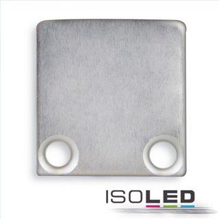 Endkappe EC3 Aluminium für Profil SURF12 FLAT in Verbindung mit TUNNEL, 2 STK, inkl. Schrauben