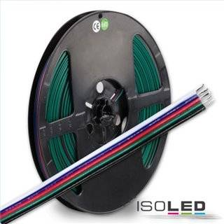 Kabel RGB+W 10m Rolle 5-polig 0.50mm² H03VH-H AWG20
