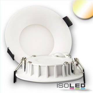 LED Downlight, 8W, ultraflach, ColorSwitch 2600K|3100K|4000K, dimmbar