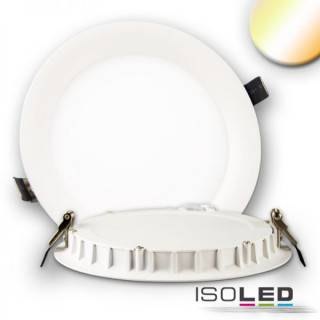 LED Downlight, 24W, ultraflach, ColorSwitch 2600K|3100K|4000K, dimmbar