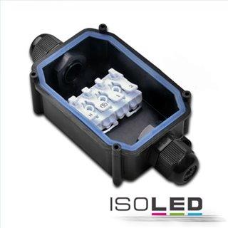 Kabelverbinder IP67, Würgenippel + Push-Klemme 2x4polig