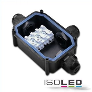 Kabel Y-Verbinder IP67, Würgenippel + Push-Klemme 2x4polig
