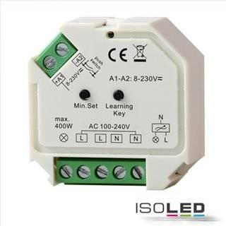 Sys-One Funk/Push Dimmer für dimmbare 230V LED Leuchtmittel/Trafos, 400VA
