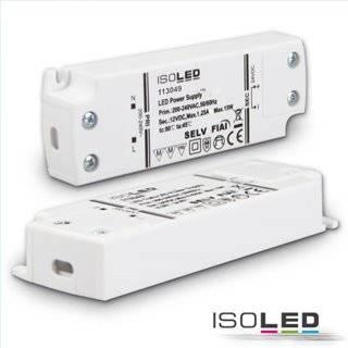 LED Trafo 12V/DC, 0-15W, ultraflach, SELV