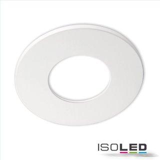 Cover Aluminium rund weiß matt für Einbaustrahler Sys-68