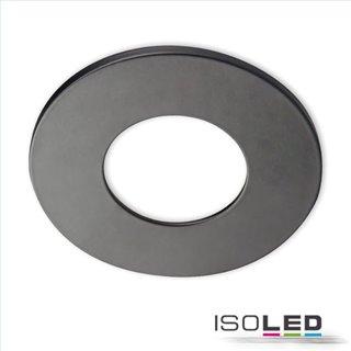 Cover Aluminium rund schwarz matt für Einbaustrahler Sys-68