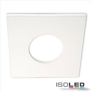 Cover Aluminium eckig weiß matt für Einbaustrahler Sys-68