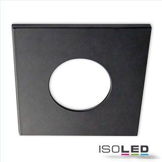 Cover Aluminium eckig schwarz matt für Einbaustrahler Sys-68