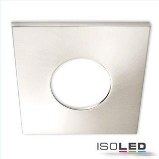 Cover Aluminium eckig nickel gebürstet für Einbaustrahler Sys-68