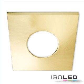 Cover Aluminium eckig gold gebürstet für Einbaustrahler Sys-68