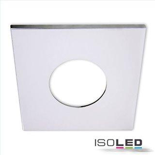 Cover Aluminium eckig chrom für Einbaustrahler Sys-68