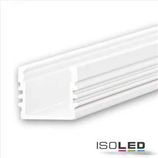 LED Aufbauprofil SURF12 Aluminium pulverbeschichtet weiß RAL 9010, 200cm