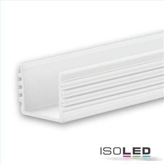 LED Aufbauprofil SURF12 BORDERLESS Aluminium pulverbeschichtet weiß RAL 9010, 200cm