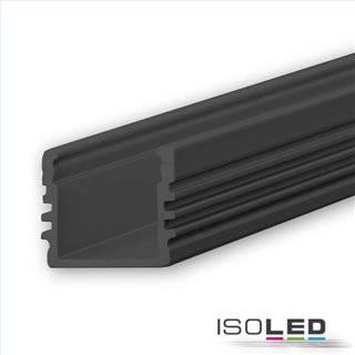 LED Aufbauprofil SURF12 Aluminium schwarz eloxiert RAL 9005, 200cm
