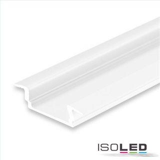 LED Einbauprofil DIVE12 FLAT Aluminium pulverbeschichtet weiß RAL 9010, 200cm