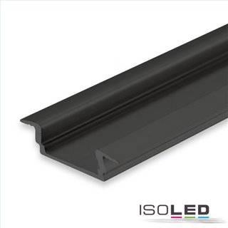 LED Einbauprofil DIVE12 FLAT Aluminium schwarz eloxiert RAL 9005, 200cm