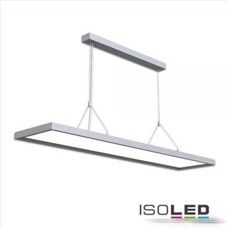 LED Office Pro Pendelleuchte Up+Down, 20+40W, silber, UGR19, 4000K, 1-10V dimmbar