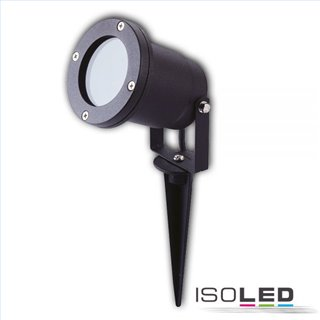 Aufbaustrahler GU10, IP65, schwarz inkl. Erdspieß