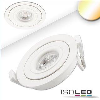 LED Einbaustrahler SUNSET mit variabler Tiefe, weiß, 9W, 45°, 2000-2800K, Dimm-to-warm