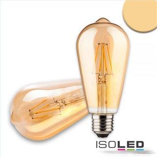 E27 Vintage Line LED ST64 Birne 8W ultrawarmweiß, dimmbar