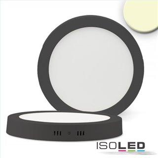LED Deckenleuchte schwarz, 24W, rund, 300mm, warmweiß dimmbar