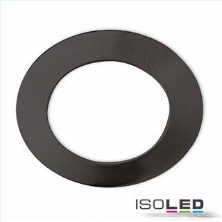 Cover Aluminium rund schwarz für Einbaustrahler Sys-90