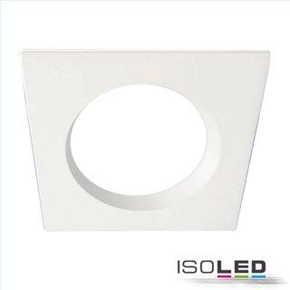 Cover Aluminium quadratisch rückversetzt weiß für Einbaustrahler Sys-90