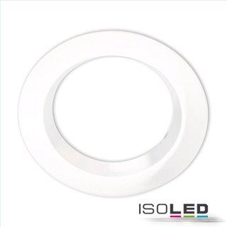 Cover Aluminium rund weiß rückversetzt für Einbaustrahler Sys-90