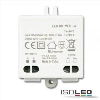 LED Trafo 12V/DC, 0-10W, SELV