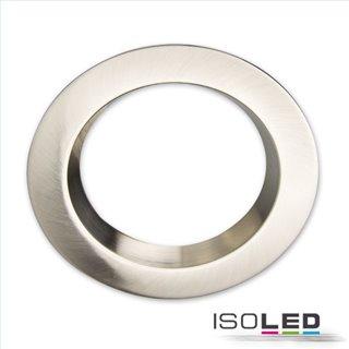 Cover Aluminium rund chrom matt rückversetzt für Einbaustrahler Sys-90