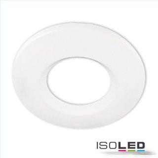 Cover Aluminium rund/Kante weiß matt für Einbaustrahler Sys-68